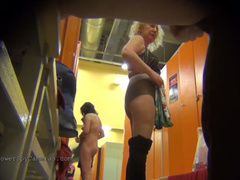 Real hidden camera in women locker room