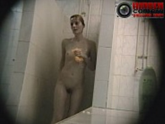 Hidden camera catches some moments in public shower
