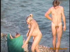 Pregnant Nudist Mom with her naked Family