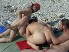 Crazy hardcoe group action with swingers and nudists