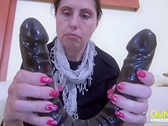 OldNannY Mature Lady with Lesbian Friend and Toy