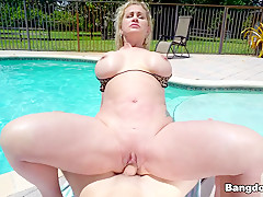 Ryan Conner Gets a Creampie by The Pool - BangBros
