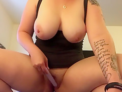 Riding dildo Canadian PAWG HUGE tits