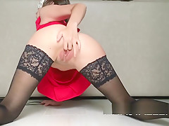 THE VACUUM PUMP MAKES MY PUSSY VERY SENSITIVE-CUMMING WITH SQUIRT!