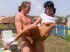 Brunette Cutie Gets Arse Fucked Outdoors