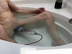 Shooting cum after using a Bathmate X40 and Xtreme X50