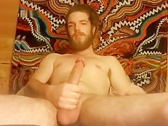 Hot Guy Strokes His Cock For You