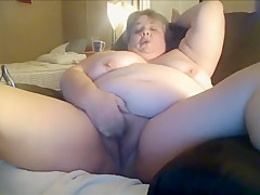 Fat Gilf Masturbating For Her Younger Date