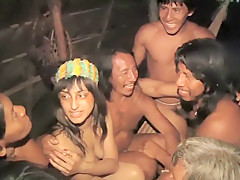 [ENF] TV Reporter has to get naked for amazon tribe report