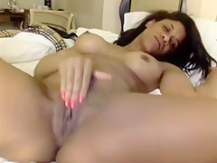 Black Slut Rubs And Hands Her Wet Pussy That Is Black