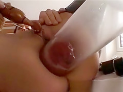 Sexy Brunette Slut Goes Crazy Playing
