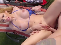 Busty Milf Fucked Passionately Outdoors