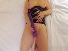 Finally Home Alone And Wife Masturbates With Her Sex Toys