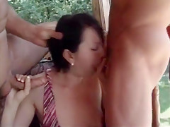 Outdoor Mature Gangbang