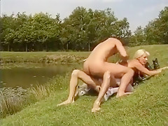 Double Penetration Fuck With German Blonde