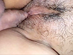 Wifes fat pussy fucked from the side
