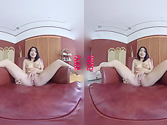 Virtualporndesire Asian Hottie Tries Out Her New Sex Toys