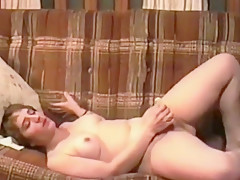 Short Haired Woman Masturbates