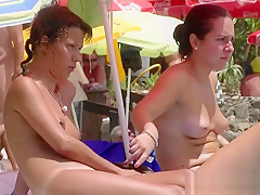 Nice Young Tits - Beach Voyeur Video