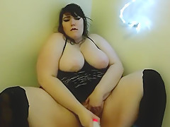 Corrie BBW - Chubby Goth Slut Masturbates and Orgasms with Toys