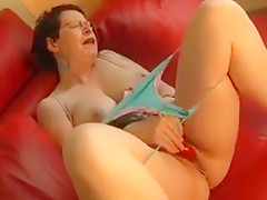 Short-haired Young Vixen Loves To Tease By Squeezing Her Ju