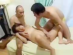 Pregnant Asian Cunt Licked In 3some
