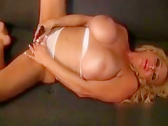 Busty Blonde Woman Gets Horny Dildo