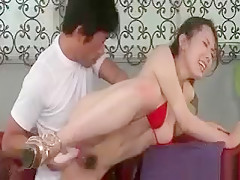 Superb Asian Babe Pussy Fucked With A Vibrator