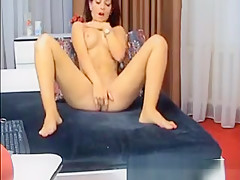Beautiful Cambabe Fingering Her Tight Pink Cunt On Cam