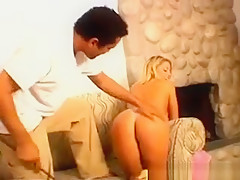 Dirty Blonde Hoe Gets Ass Spanked Hard