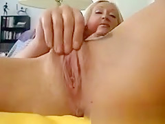 Busty Horny Plays With Her Pussy