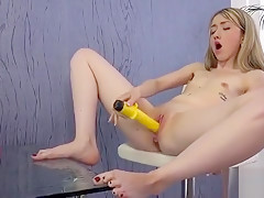 Charming Kitten Is Peeing And Masturbating Smooth Quim