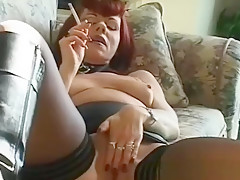 Slutty Teenager Smoking And Taking Her Raiment Off