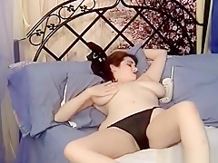 Brunette Milf Giant Natural Tits Sexy Masturbation