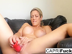 Capri Cavanni in Capri Cavanni Shoots A Home Movie Solo With A Toy - CapriCavanni