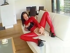 Dirty Brunette Slut Goes Crazy Dildo