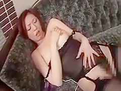 Provoking Japanese Girl In Lingerie Touches Herself And Blo