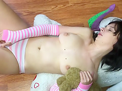 Abby Fucks Herself With Her Massive Tentacular Toy