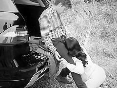Couple Outdoor in bw
