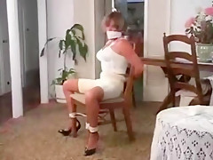 Woman on chair