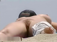 Busty Nude Beach Babes Filmed By A Voyeur