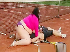 Bbw Fat Plumps Sits On Guys Face As She Lost Tennis Match