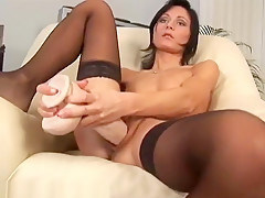 Petite Russian Paola Fills Her Pussy With A Huge Dildo