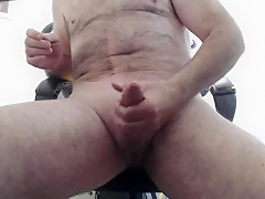 mature man likes to play and cum