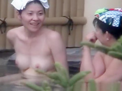 two ladies in the hot spring