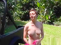 Curved Babe Gets Soaked As She Has Some Public Act With Stud