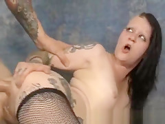 Double Rough Pounding Brunette Dirtbag Mallory Maneater
