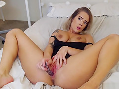 Tasty Big Tits Blonde Is Pleasured In A Solo Homemade Act