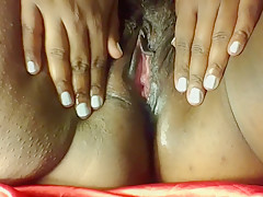 Hairy Bisexual BBW playing with herself, verbal masturbation, Ebony pussy,