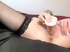 Teen Strip Tease and Solo Play